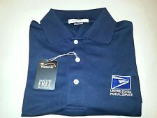 USPS Embroidered MOISTURE WICKING Polo Shirt 1/Navy Blue /DRYFIT  Size: Sm - 2XL