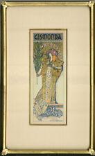 "Original 1896 ""Gismonda"" by Alphonse Mucha –Maîtres de l'Affiche Plate 27"