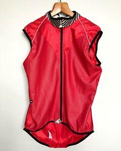 ASSOS AIRBLOCK 799 CYCLING WINDPROOF MEN'S XL RED GILET VEST – NWOT
