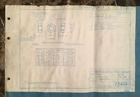 ORIGINAL- AIRSHIP USS AKRON (ZRS-4) & AIRSHIP USS MACON (ZRS-5) PART BLUEPRINT .