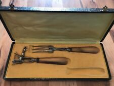 Rare French Art Deco  De Trefle Lamb Carving Fork And Holder