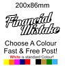 Financial Mistake Sticker car decal bumper funny lowered