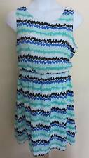 Ladies Breezy Zig Zag Print Sleeveless DRESS Sz 20 XXL Summer 2X Lightweight