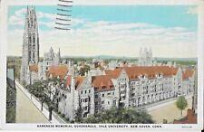 Postcard CT New Haven Yale University Harkness Memorial Quadrangle 1935
