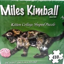 """Miles Kimball Kitten Collage Shaped Cat Puzzle - 410 Pieces - 34 x 19.7"""""""