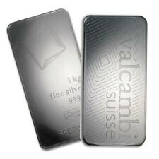 One piece 1 kilo 0.999 Fine Silver Bar Valcambi with Assay-78911 Lot 7115