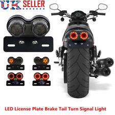 Cafe Racer Bobber Custom Motorcycle Twin Round Stop & Tail Rear Brake Light LED