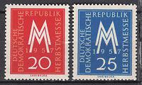 DDR 1957 Mi. Nr. 596-597 Postfrisch ** MNH