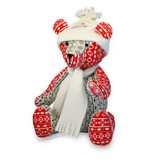 """Sewing PATTERN Jingle Bear, 13"""" Christmas Teddy, Soft Toy Independent Design"""
