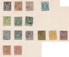 (K68-24) 1863-76 France mix of 15 stamps valued to 50c (A)