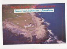 Beaver Tail Lighthouse Jamestown Rhode Island Postcard USA 402a ^
