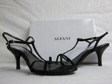 Alfani Faye HEELS Sandals Black DESIGNER Medium Leather Shoes 9.5