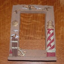 Hand Painted Resin Lighthouse Frame