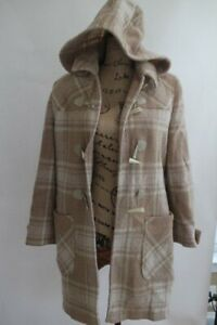 LONGCHAMP PARIS PLAID TOGGLE WOOL COAT MADE IN ITALY 42 (CO100