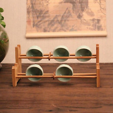 Wooden Tree Mug Rack Coffee Tea Cup Holder Kitchen Storage Display Stand Decor