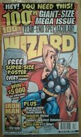 WIZARD COMICS MAGAZINE #100 January 2000 with Inserts w Captain America 2