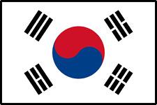 Drapeau Coree du Sud / South  Korean flag / 145 cm X 90 cm