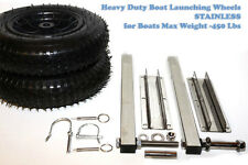 Launching wheels Heavy Duty for Inflatable aluminum Boat RIB Stainless 450 lbs
