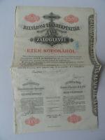 Pfandbrief der Innerstädtischen Sparcassa AG Budapest-1000 Kronen-1911