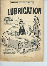 NC-087 - Chrysler Lubrication Service Reference Book 1950 Plymouth Dodge De Soto