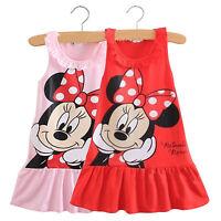 Kids Baby Girls Minnie Mouse Party Dress Summer Sleeveless A Line Skirt Sundress