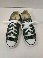 CONVERSE ALL STARS MENS GREEN LOW TOP CANVAS SNEAKERS - SIZE 3 WOMENS SIZE 5
