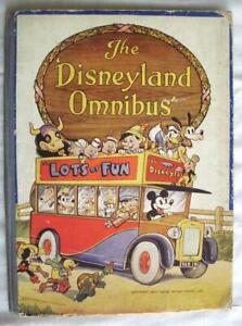 THE DISNEYLAND OMNIBUS BOOK COLLINS 1945 V RARE VGC SNOW WHITE PINOCCHIO MICKEY
