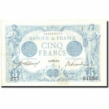 Billets, France, 5 Francs, 5 F 1912-1917 ''Bleu'', 1916, 1916-08-06 #212593