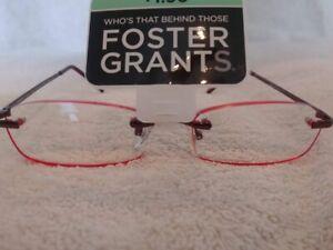 """Foster Grant Women's """"Kristin"""" Rimless Reading Glasses Readers +1.50"""