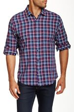 Toscano Plaid Long Sleeve Regular Fit Shirt 3136 Size L