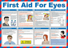 Click Medical First Aid For Eyes UK Health and Safety A2 Size Poster Durable New