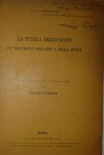 Parpagliolo: La tutela dello Stato Monumenti Arte e Storia 1908 Rivista d'Italia