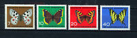 ALEMANIA/RFA WEST GERMANY 1962 MNH SC.B380/B383 Butterflies