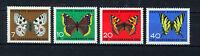 ALEMANIA/RFA WEST GERMANY 1962 MNH SC.B380/B383 Butterflies