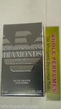 MINI EMPORIO ARMANI DIAMONDS MEN 0.14/.14 OZ/4 ML EAU DE TOILETTE EDT SPLASH NIB