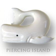 Wal Walfisch Amulett Anhänger Bone Knochen Maori Design PB139