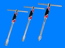"""3 x Profi T-Griff Steckschlüssel mit 1/4"""" , 3/8"""" und 1/2"""" Stecknuss Antrieb YT"""