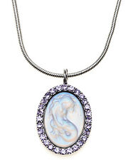 KIRKS FOLLY LORELEI DIVA MERMAID NECKLACE   silvertone / violet