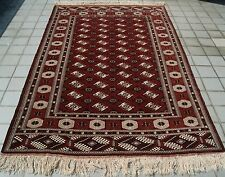 HOME DECOR TURKOMAN CARPET RUG RECTANGLE  WOOL 30+ BURGUNDY AREA RUGS 9X14ft.