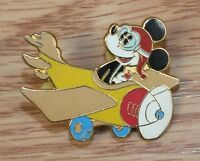 Genuine Disney Pilot Mickey Mouse in Airplane Aviator Collectible Pin Only *READ