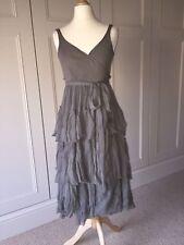 BURBERRY SILK CHIFFON WRAP DRESS, Size IT38
