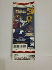 2005 World Series Game 3 Full Authentic Ticket Stub Astros v White Sox Win 10/25
