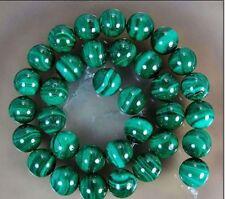 "10mm Green Malachite Round Gemstone Loose Beads 15""AA"