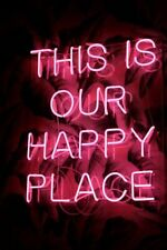 This Is Our Happy Place Neon Light Sign Bedroom Decor Beer Bar Pub Artwork Glass