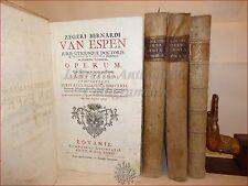 VAN ESPEN: OPERA OMNIA CANONICA 6 voll in 3 tomi 1732 Lovanio + COMMENTARIO 1759