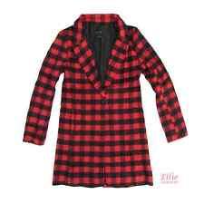 Women's Plaided Checkered Red/black/white Jacket Coat (S/M/L)