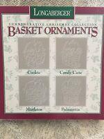 Longaberger 1995 Commemorative Christmas Basket Ornaments (NIB)