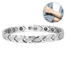 b74512bf21d Therapy Energy Healing Bracelet Titanium Steel Magnetic Health Care Bangle  Gifts