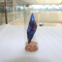Natural Aura Titanium Quartz Crystal Feather Cluster Landscape Bottle Decor Gift