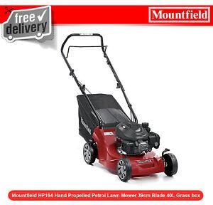 Ex Mountfield HP164 Hand Propelled Petrol Lawn Mower 39cm Blade 40L Grass box